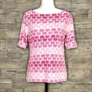 Karen Scott pink seashell motif t-shirt